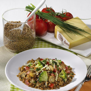 Spelt and Vegetable Risotto.