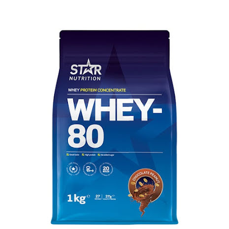 Star Nutrition Whey 80 1kg - Chocolate Peanut