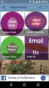 Uniben Portal - náhled