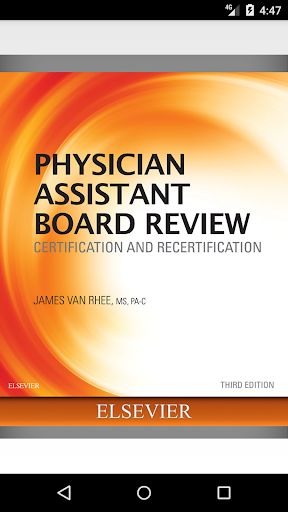 Physician Assistant Board Review, 3rd Edition screenshot for Android