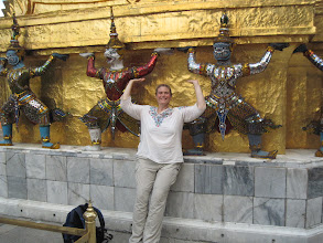 Photo: At the Royal Grand Palace in Bangkok. It was actually flooded when I first arrived, but was open the last day of my visit.