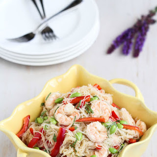 Rice Noodle Salad With Shrimp And Fresh Mint
