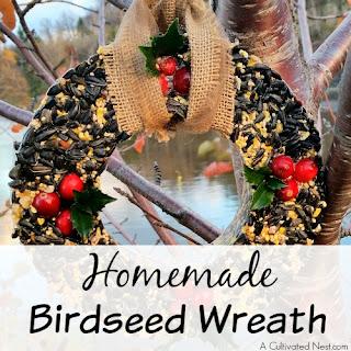 Homemade Birdseed Wreath.
