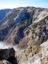 Photo: Tiefblick auf unseren Abstiegsweg