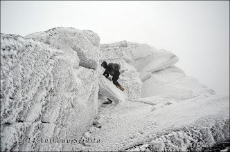 Photo: Last bit of climbing.