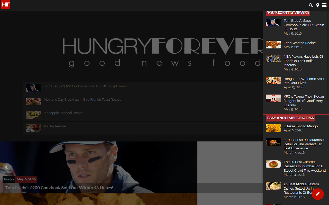 Hungryforever.com Food Blog- screenshot
