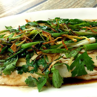 Steamed Fish with Ginger and Scallions (姜蔥蒸魚 jiāng cōng zhēng yú)