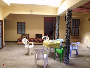 Photo: This place was more of a guesthouse, and had at least 4 levels (probably more) sprawled down the hillside. The room with the open door is where we slept.