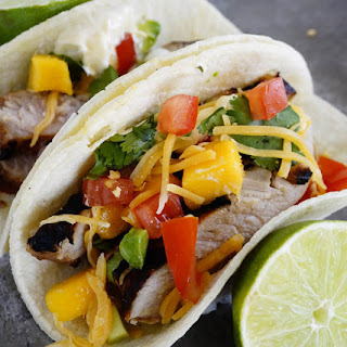 Less than 300 Calorie Beef Taco with Mango Salsa