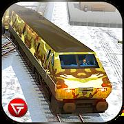 Army Train Driving 2018: US Coach Transport Sim 3D