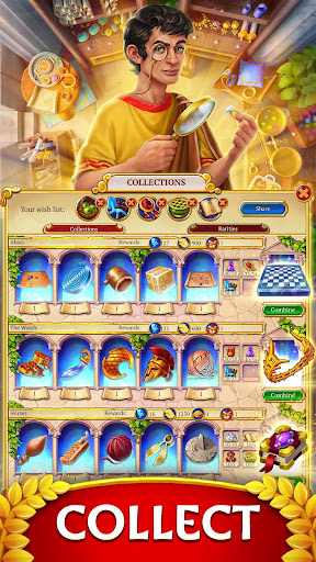 Jewels of Rome: Match gems to restore the city modavailable screenshots 5