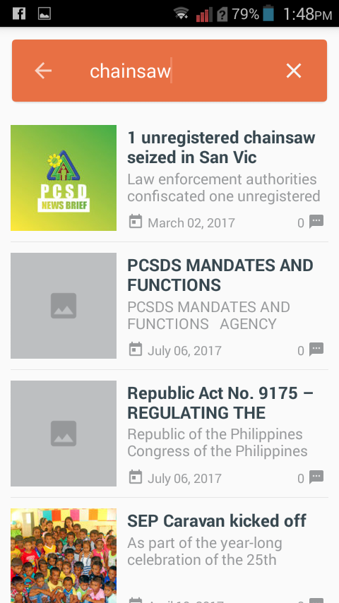 PCSD for Palawan- screenshot