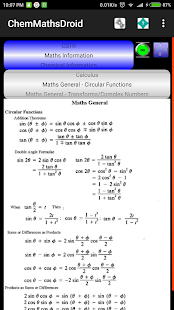 ChemMathsDroid Engineering,Chemical,Maths tools 5