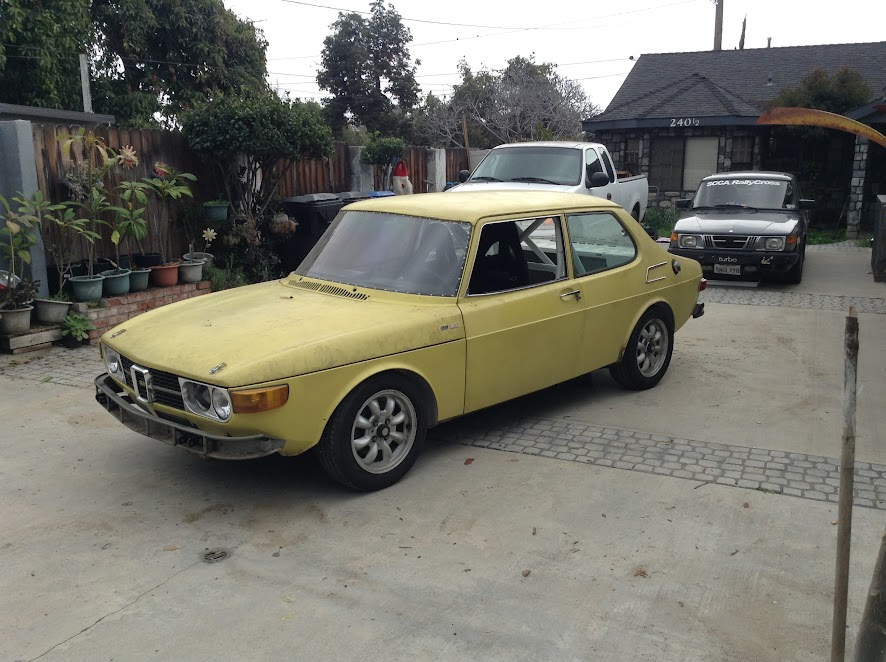 For sale: 1973 Saab 99 Notchback Road Race Project - $X,XXX -