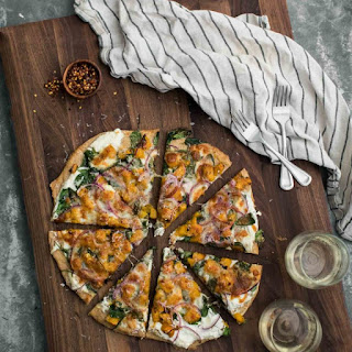 Ricotta Butternut Squash Pizza with Spinach.