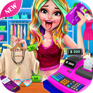 Shopping Mall Girl Cashier Game 2 - Cash Register