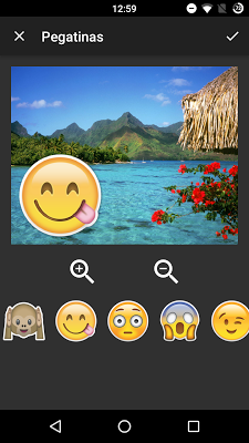 Stickers for pictures - screenshot