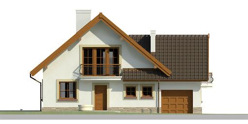 Dom przy Cyprysowej 10 - Elewacja przednia