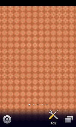 オレンジの花模様【スマホ待受壁紙】