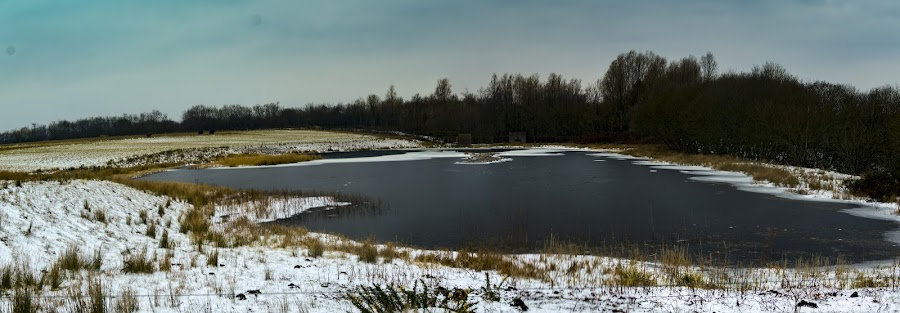 Frozen by Brett Taylor - Novices Only Landscapes ( winter, ice, snow, snowy, lake )