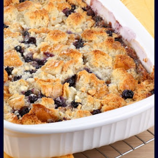 Blueberry Cobbler Cake.