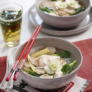 Poached Chicken Noodle Soup.