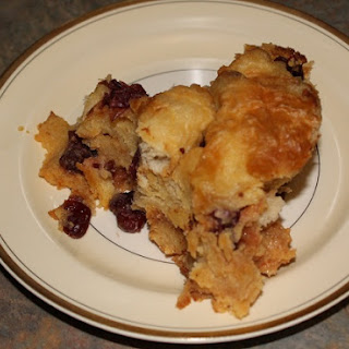 Crock-Pot Eggnog & Cranberry Bread Pudding