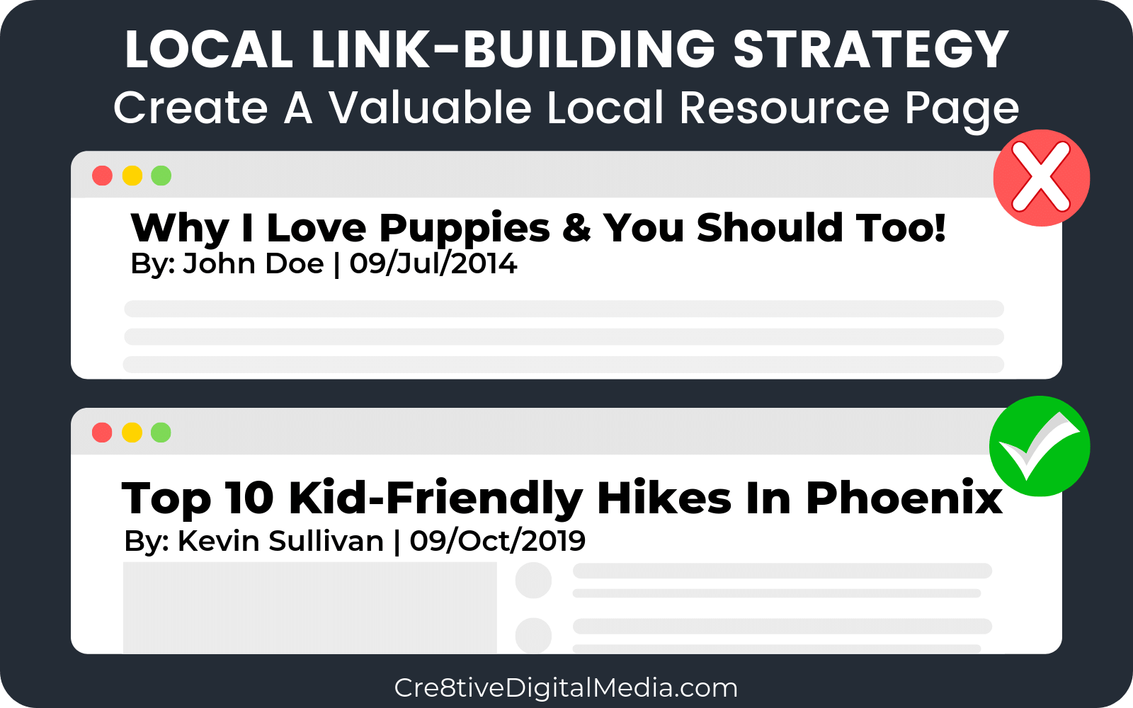 Create a Local Resource Page to attract local backlinks
