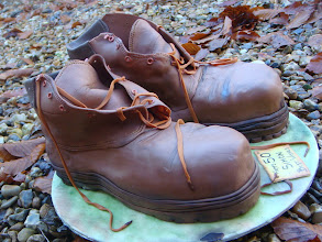 Photo: Mountaineering Boots by Fifi's Cakes  (8/8/2012) View cake details here: http://cakesdecor.com/cakes/24389