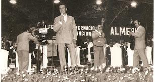 Manolo Escobar intervino en Almería en el Festival Internacional de la Canción.