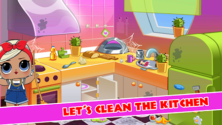 LOL A Doll Surprise House Cleaning 1.0 APK screenshot thumbnail 2
