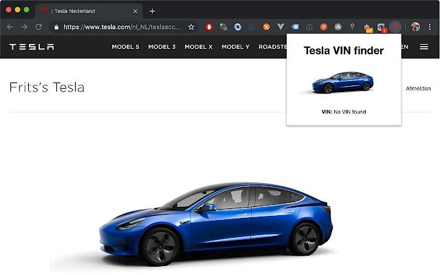 Tesla VIN finder