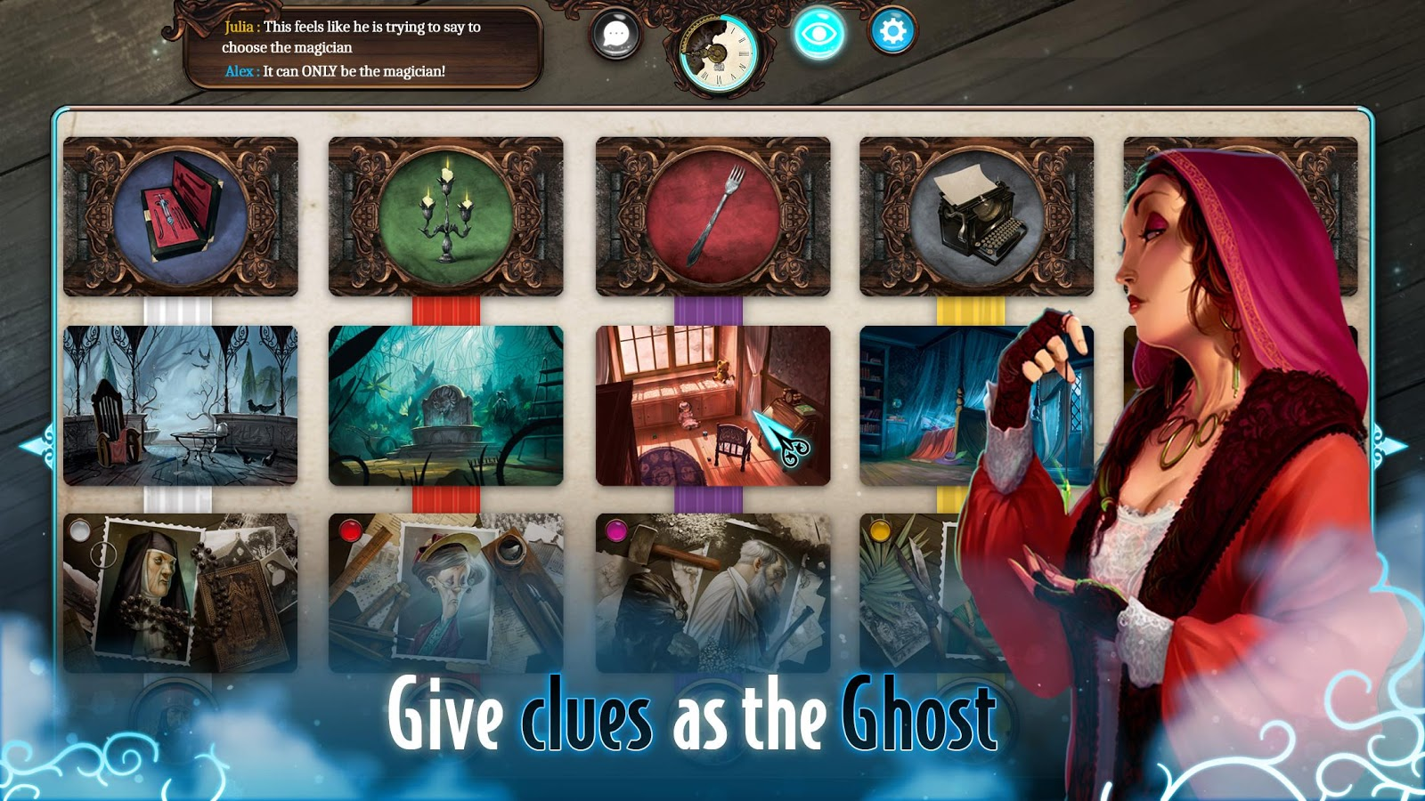 Mysterium: A Psychic Clue Game- screenshot