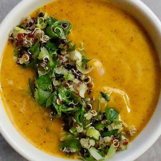 Creamy Carrot-Quinoa Soup with Zesty Gremolata.