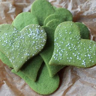 Matcha Green Tea Heart Cookies Recipe
