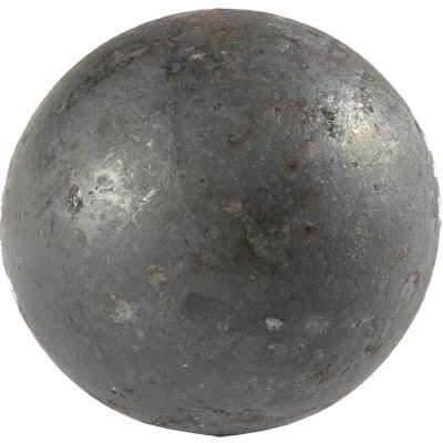 Massiv kula av stål