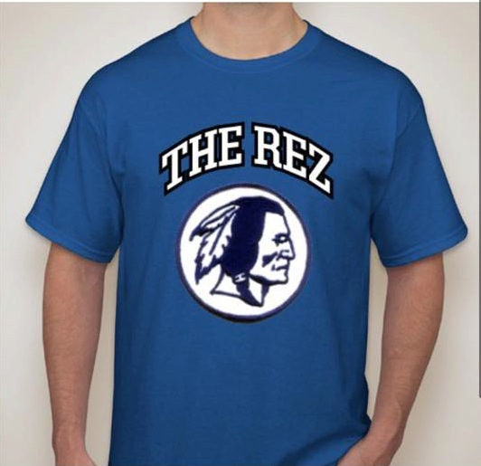 Rez cheering section changes name to hall super fans for American leadership academy friday shirts