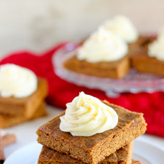 Chewy Gingerbread Bars with Orange Cream Cheese Frosting