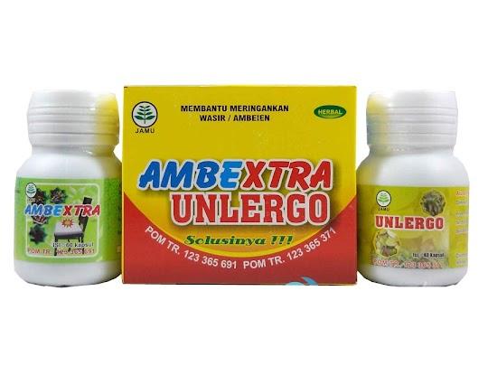 Ambextra Unlergo paket ambextra herbal mengobati mengatasi ambeien kronis wasir alami mengobati pendarahan ambeien