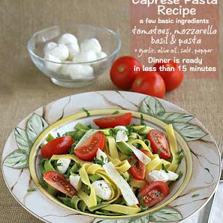 Mozzarella Tomato Basil Caprese Pasta Recipes.