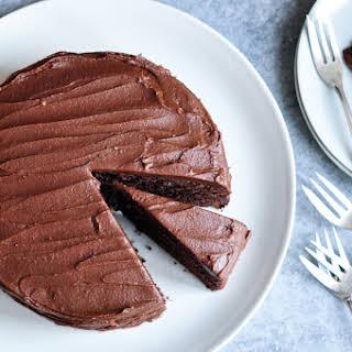 Sour-Cream Chocolate Cake.