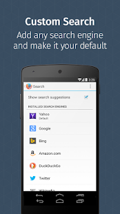 Firefox für Android Beta Screenshot