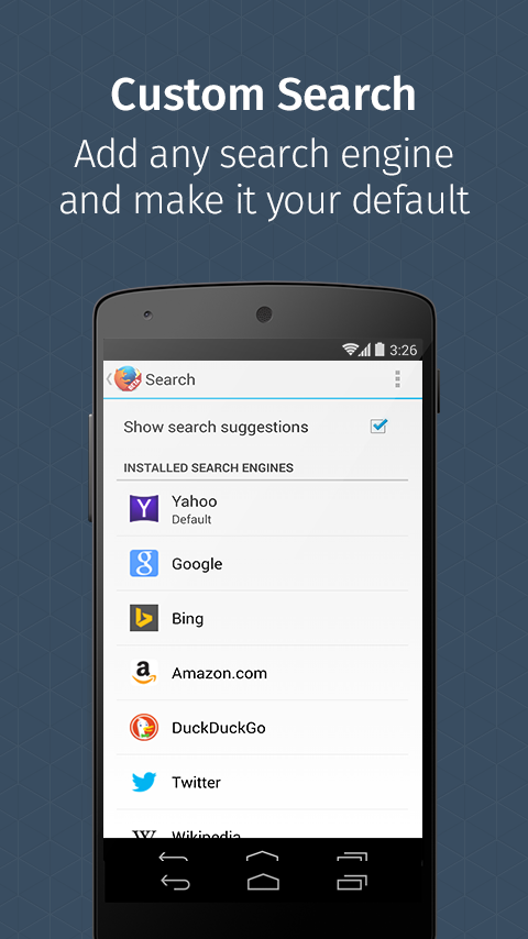 Firefox for Android Beta- screenshot