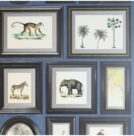 Arthouse Tavlor med djur och vaxter ART522 - Marinbla
