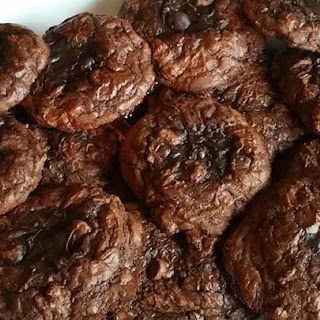 Easy Brownie Mix Cookies.