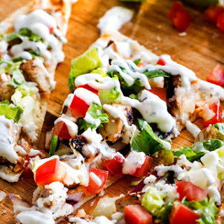 Chicken Gyro Flatbread Pizzas