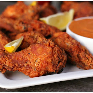 Cajun Buttermilk Wings with Spicy Red Aioli.