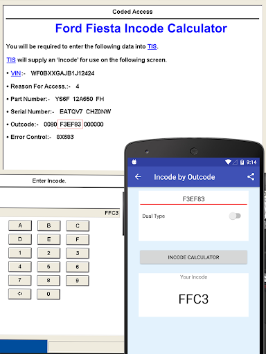 Incode by Outcode for Ford/Mazda/LandRover/Jaguar 1.2 screenshots 1