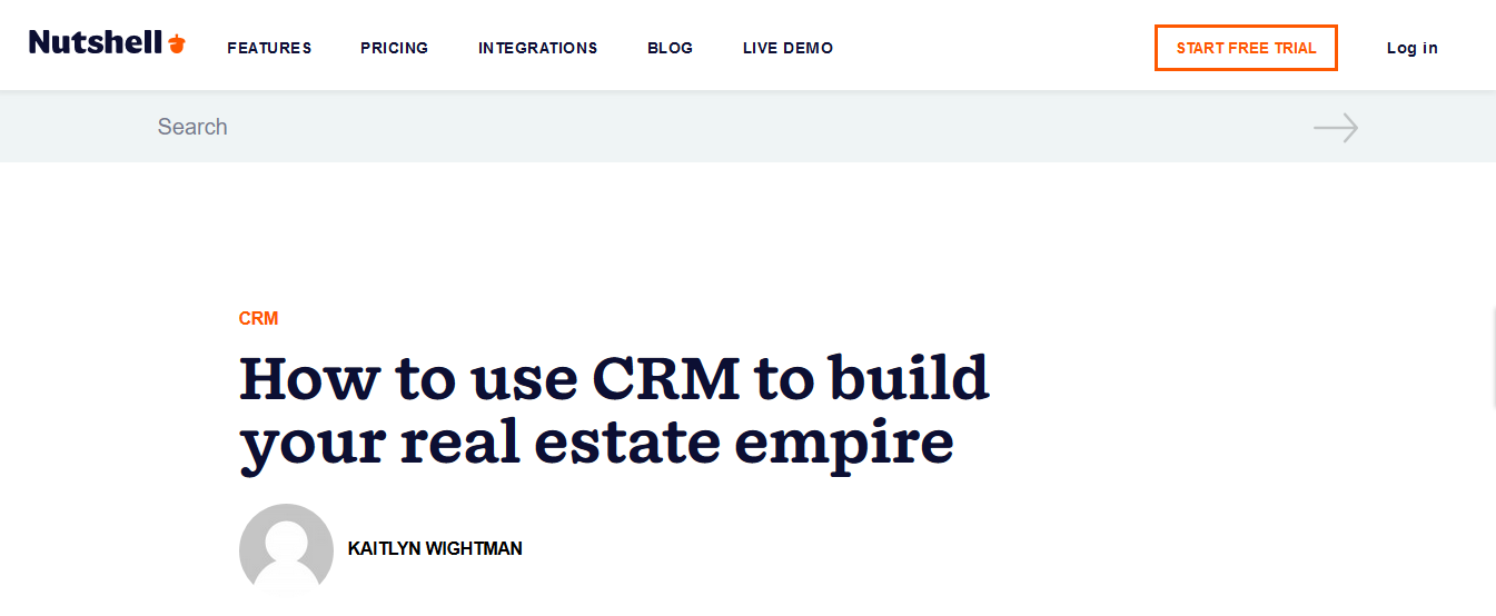 Nutshell CRM for large real estate sales