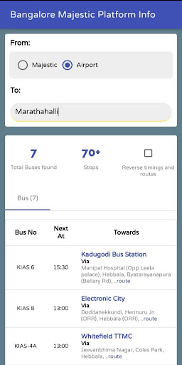 MAJESTIC BMTC HUB - Find Platform & Airport Buses screenshot 3